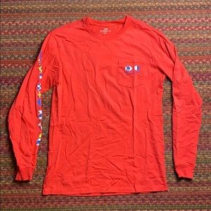 RED LONG SLEEVE SOUTHERN TIDE TEE